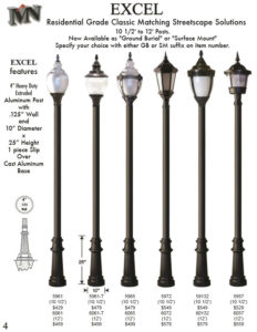 Texas Houston Cast Aluminum Lamp Post
