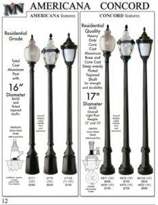 Houston Decorative Street Lighting Poles