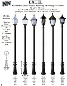 Houston Cast Aluminum Light Post